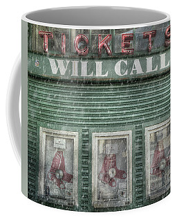 Boston Red Sox Fenway Park Ticket Booth In Winter Coffee Mug