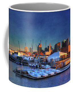 Coffee Mug featuring the photograph Boston Skyline From Charlestown Navy Yard by Joann Vitali