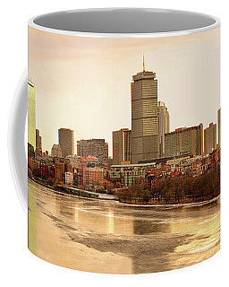 Boston Skyline On A December Morning Coffee Mug