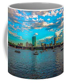 Boston Skyline Painting Effect Coffee Mug