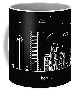 Boston Landmark Drawings Coffee Mugs