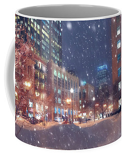 Boston Snowstorm In Back Bay Coffee Mug by Joann Vitali