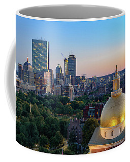 Coffee Mug featuring the photograph Boston State House by Michael Hubley