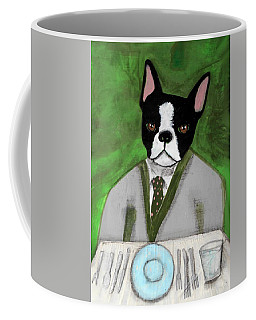 Boston Terrier At A Formal Dinner Coffee Mug