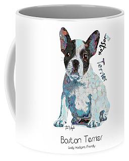 Boston Terrier Pop Art Coffee Mug