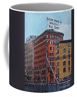 Boston Wharf Co On Summer Street Coffee Mug
