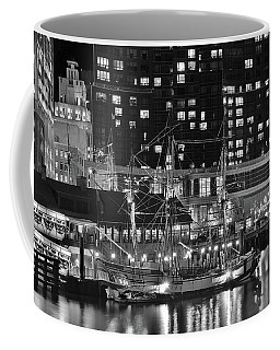 Coffee Mug featuring the photograph Bostonian Black And White by Frozen in Time Fine Art Photography