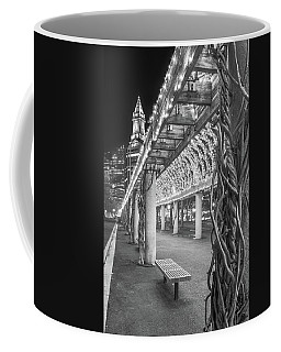 Boston's Custom House And Christopher Columbus Park Trellises Coffee Mug