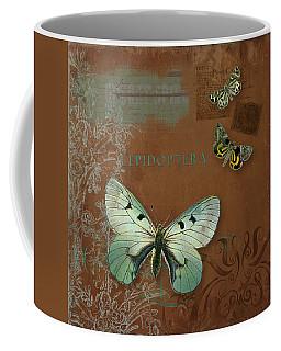 Botanica Vintage Butterflies N Moths Collage 4 Coffee Mug