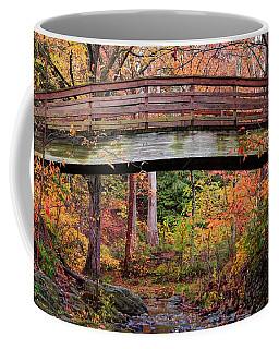 Botanical Gardens Arched Bridge Asheville During Fall Coffee Mug