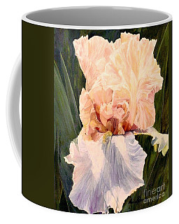 Botanical Peach Iris Coffee Mug by Laurie Rohner