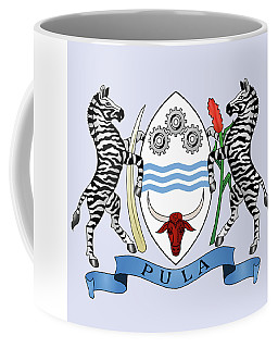 Coffee Mug featuring the drawing Botswana Coat Of Arms by Movie Poster Prints