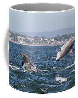 Coffee Mug featuring the photograph Bottlenose Dolphins - Moray Firth Scotland #45 by Karen Van Der Zijden