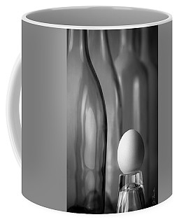 Coffee Mug featuring the photograph Bottles And Egg by Joe Bonita