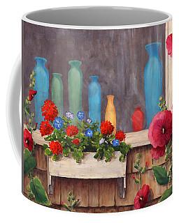 Bottles And Flowers, Monhegan Island, Me Coffee Mug