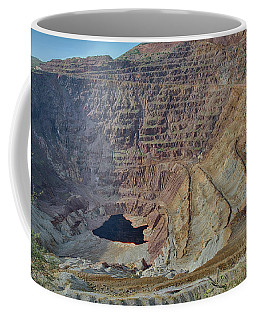 Coffee Mug featuring the photograph Bottom Of The Lavender Pit Mine by Dan McManus