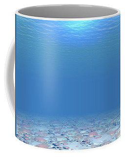 Coffee Mug featuring the digital art Bottom Of The Sea by Phil Perkins