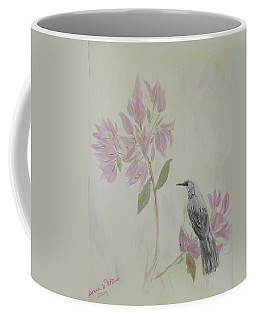 Bougainvillea And Mockingbird Coffee Mug