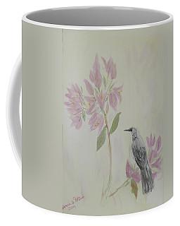 Bougainvillea And Mockingbird Coffee Mug by Donna Walsh