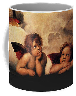Coffee Mug featuring the painting Bouguereau Painting Fresh Paint  by Catherine Lott