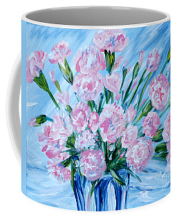 Bouguet Of Carnations.  Joyful Gift. Thank You Collection Coffee Mug