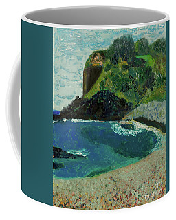 Coffee Mug featuring the painting Boulder Beach by Paul McKey