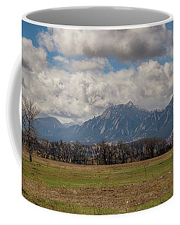 Coffee Mug featuring the photograph Boulder Colorado Front Range Panorama View by James BO Insogna