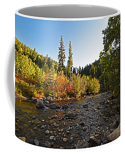Boulder Colorado Canyon Creek Fall Foliage Coffee Mug