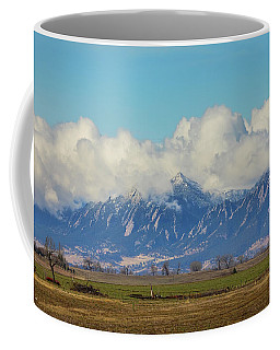 Coffee Mug featuring the photograph Boulder Colorado Front Range Cloud Pile On by James BO Insogna