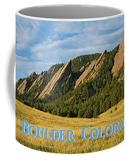 Coffee Mug featuring the photograph Boulder Colorado Poster 1 by James BO Insogna