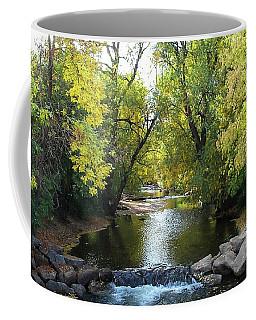 Boulder Creek Tumbling Through Early Fall Foliage Coffee Mug