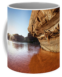 Bouldering Above River Coffee Mug