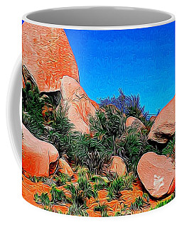 Boulders 7 In Abstract Coffee Mug