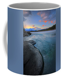 Boulders And Ice On The Athabasca River Coffee Mug by Dan Jurak