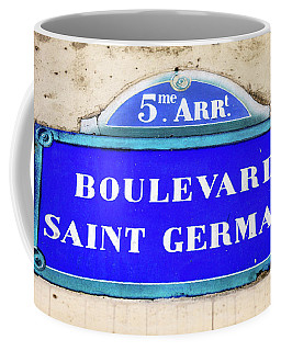 Boulevard Saint Germain Sign In Paris Coffee Mug