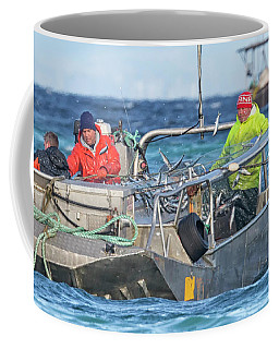 Coffee Mug featuring the photograph Bouncing Herring by Randy Hall