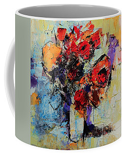 Coffee Mug featuring the painting Bouquet De Couleurs by Elise Palmigiani