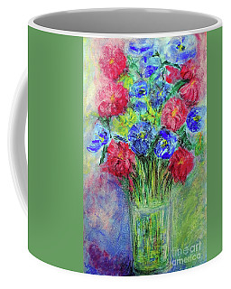 Coffee Mug featuring the painting Bouquet by Jasna Dragun