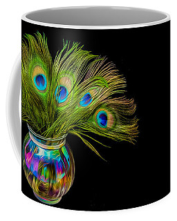 Coffee Mug featuring the photograph Bouquet Of Peacock by Rikk Flohr