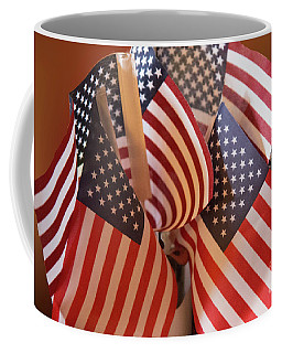 Bouquet Of Us Flags Coffee Mug by Linda Phelps