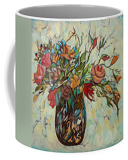 Bouquet With Turquoise Coffee Mug