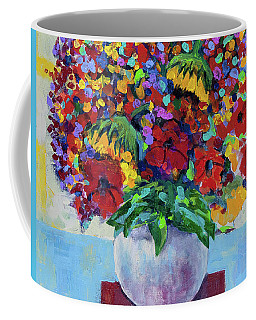 Bouquet With Two Sunflowers Coffee Mug
