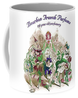 Coffee Mug featuring the digital art Bourbon French Perfume by ReInVintaged
