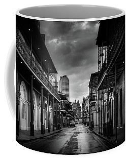 Coffee Mug featuring the photograph Bourbon Rain In Black And White by Greg Mimbs