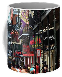 Coffee Mug featuring the photograph Bourbon Street by Steven Spak