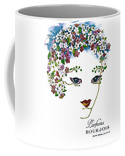 Coffee Mug featuring the digital art Bourjois by ReInVintaged