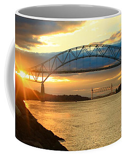 Bourne Bridge Sunset Coffee Mug by Amazing Jules