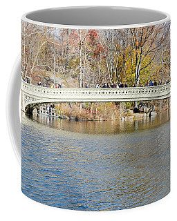 Coffee Mug featuring the photograph Bow Bridge With Wedding by Steven Richman