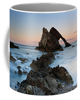 Coffee Mug featuring the photograph Bow Fiddle Rock At Sunset by Maria Gaellman