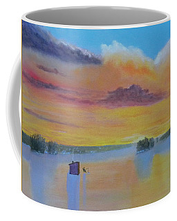 Bow Lake Ice Fishing Coffee Mug